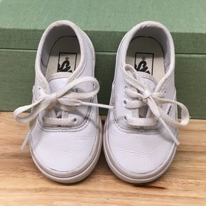 Toddler Vans Sneakers, White, Size 5T